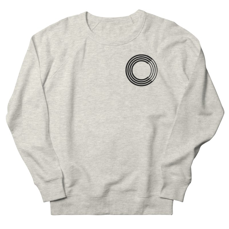 Chorus.fm Black Logo (Breast) Men's French Terry Sweatshirt by Chorus.fm Shop