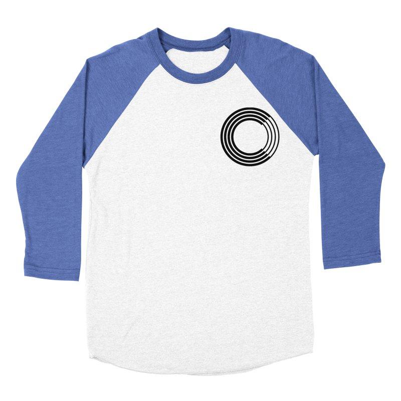 Chorus.fm Black Logo (Breast) Women's Baseball Triblend Longsleeve T-Shirt by Chorus.fm Shop
