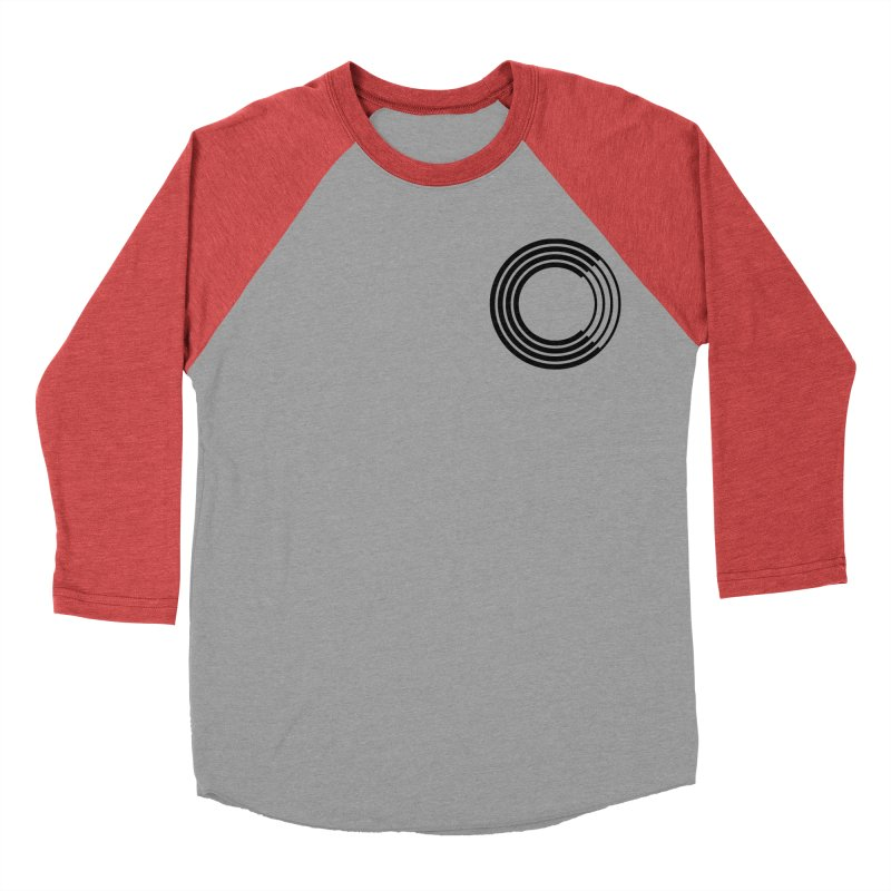 Chorus.fm Black Logo (Breast) Men's Baseball Triblend Longsleeve T-Shirt by Chorus.fm Shop