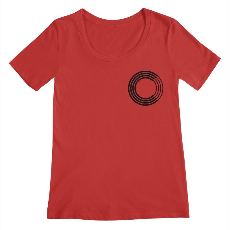 Chorus.fm Black Logo (Breast) Women's Regular Scoop Neck by Chorus.fm Shop