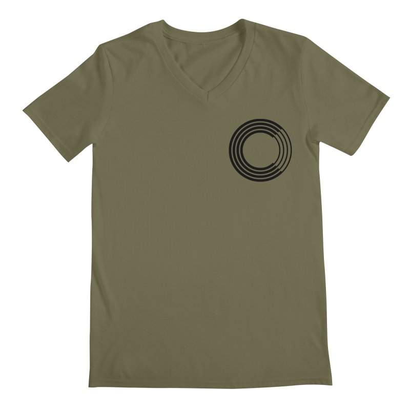 Chorus.fm Black Logo (Breast) Men's Regular V-Neck by Chorus.fm Shop