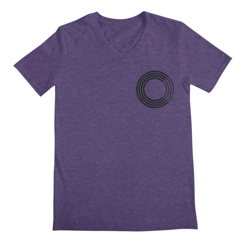 Chorus.fm Black Logo (Breast) Men's Regular V-Neck by Chorus.fm Shop