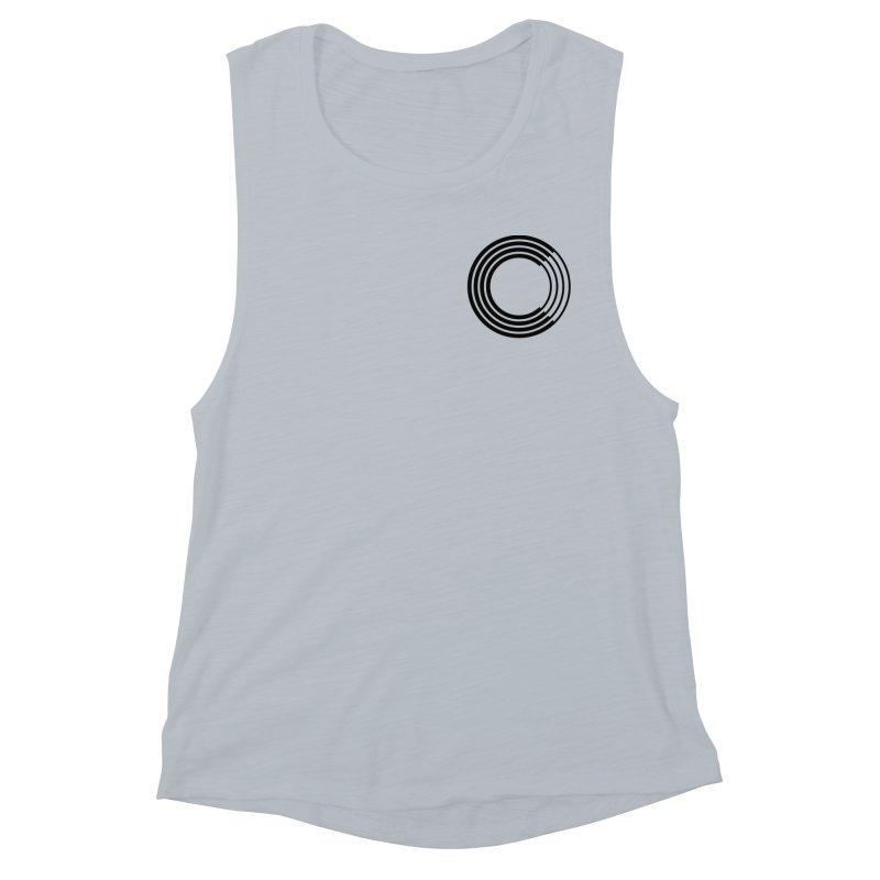 Chorus.fm Black Logo (Breast) Women's Muscle Tank by Chorus.fm Shop