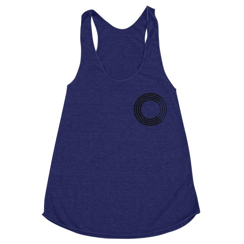 Chorus.fm Black Logo (Breast) Women's Racerback Triblend Tank by Chorus.fm Shop