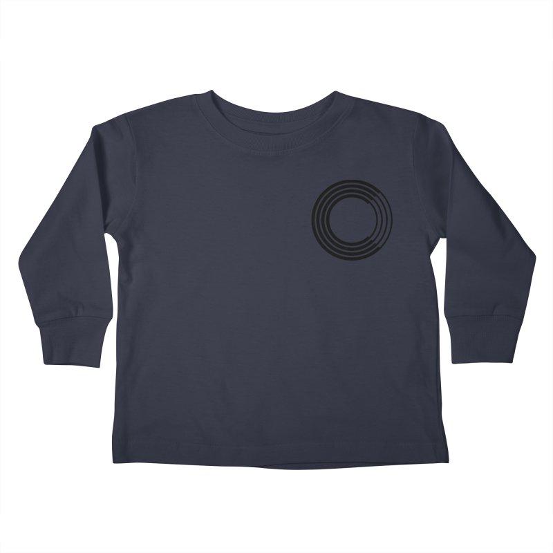 Chorus.fm Black Logo (Breast) Kids Toddler Longsleeve T-Shirt by Chorus.fm Shop