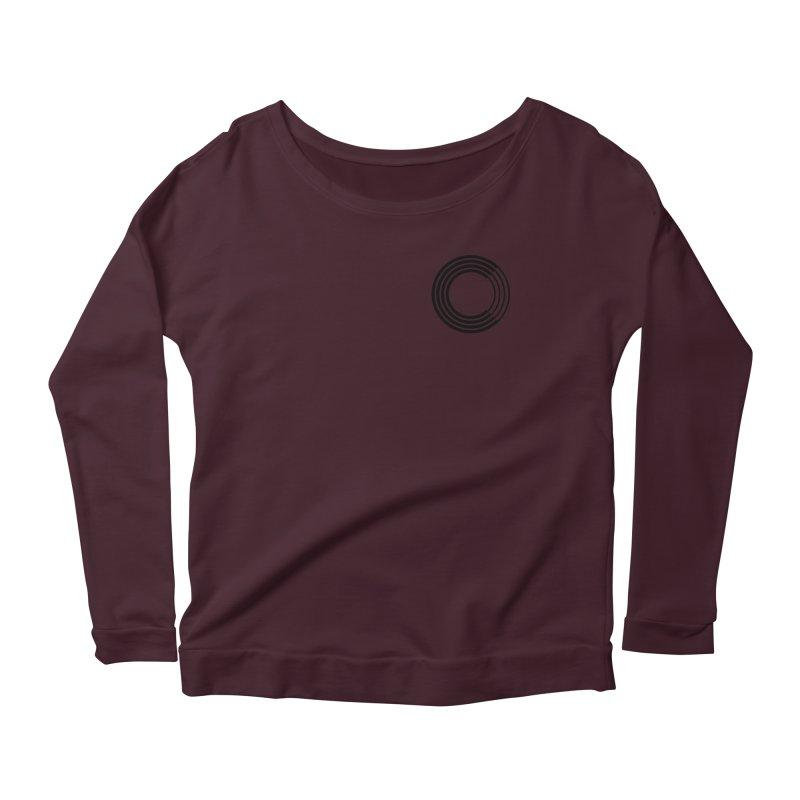 Chorus.fm Black Logo (Breast) Women's Scoop Neck Longsleeve T-Shirt by Chorus.fm Shop