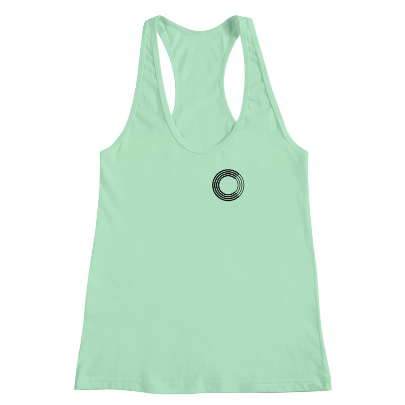 Chorus.fm Black Logo (Breast) Women's Racerback Tank by Chorus.fm Shop
