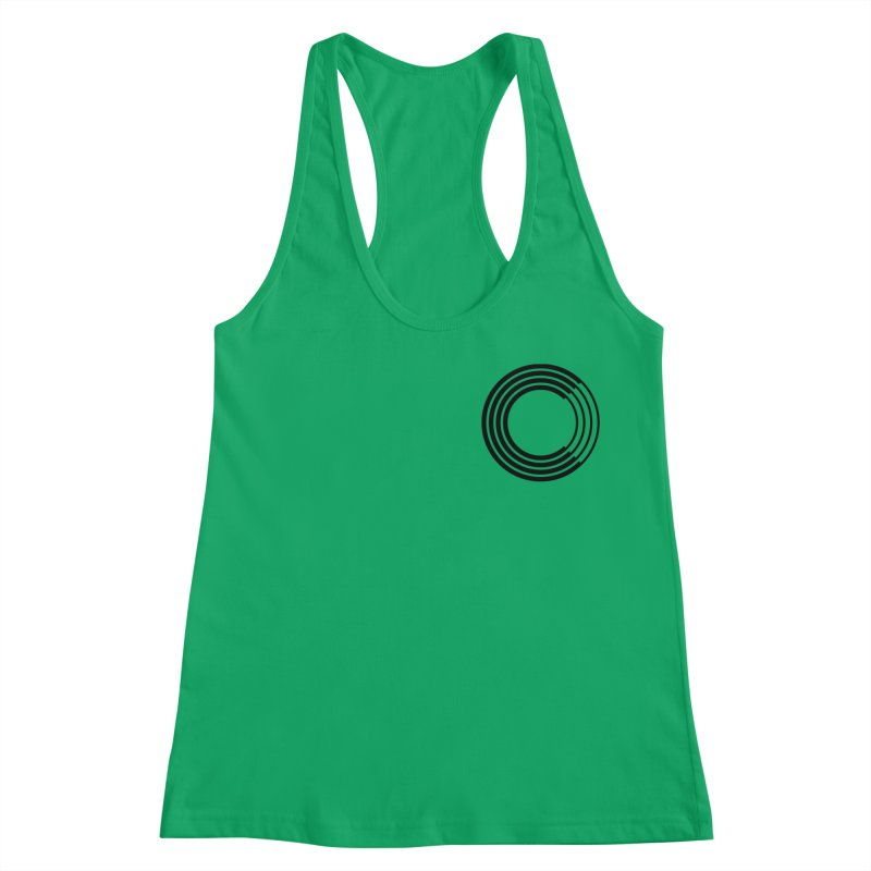 Chorus.fm Black Logo (Breast) Women's Racerback Tank by Chorus.fm Shop