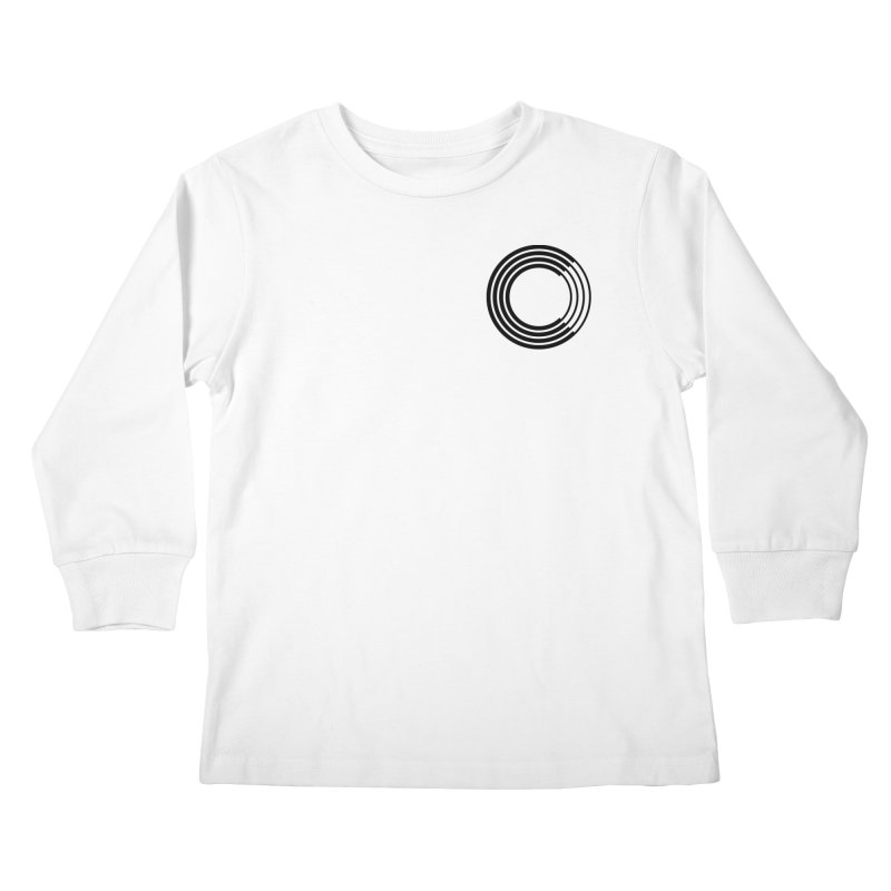 Chorus.fm Black Logo (Breast) Kids Longsleeve T-Shirt by Chorus.fm Shop