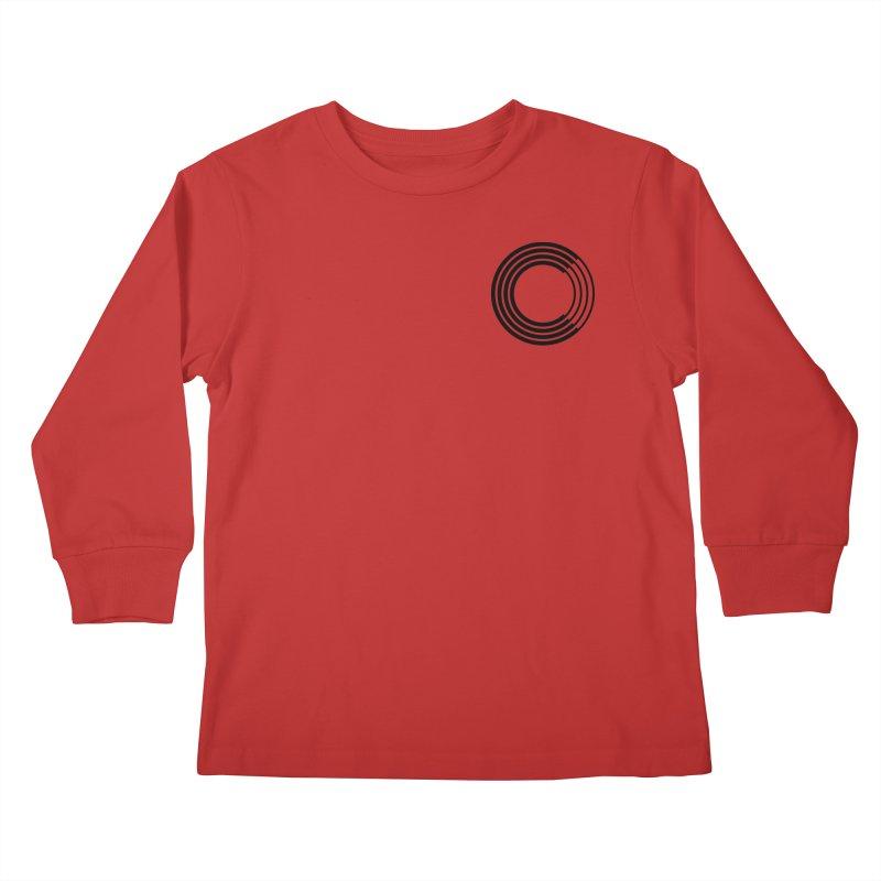 Chorus.fm Black Logo (Breast) Kids Longsleeve T-Shirt by Chorus.fm Shop