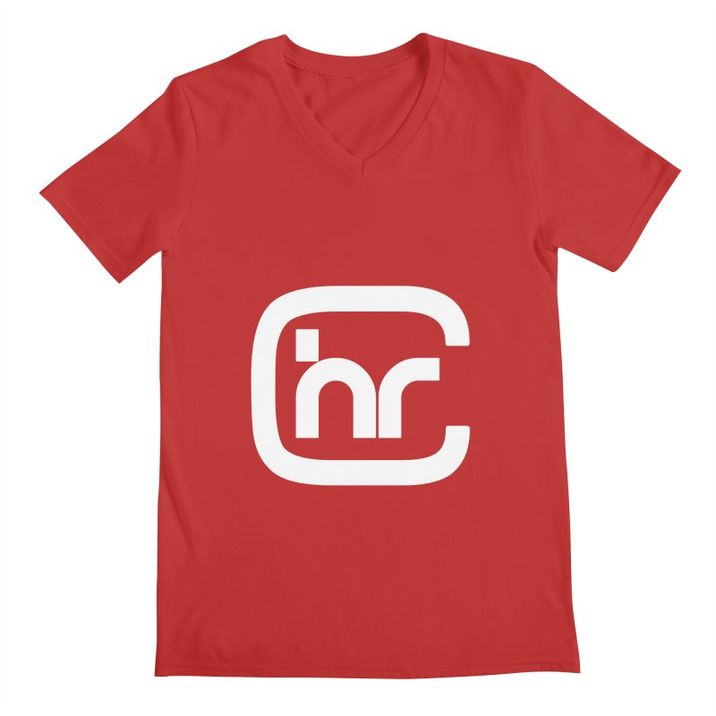 CHR WHITE LOGO Men's V-Neck by Church at Hampton Roads Apparel