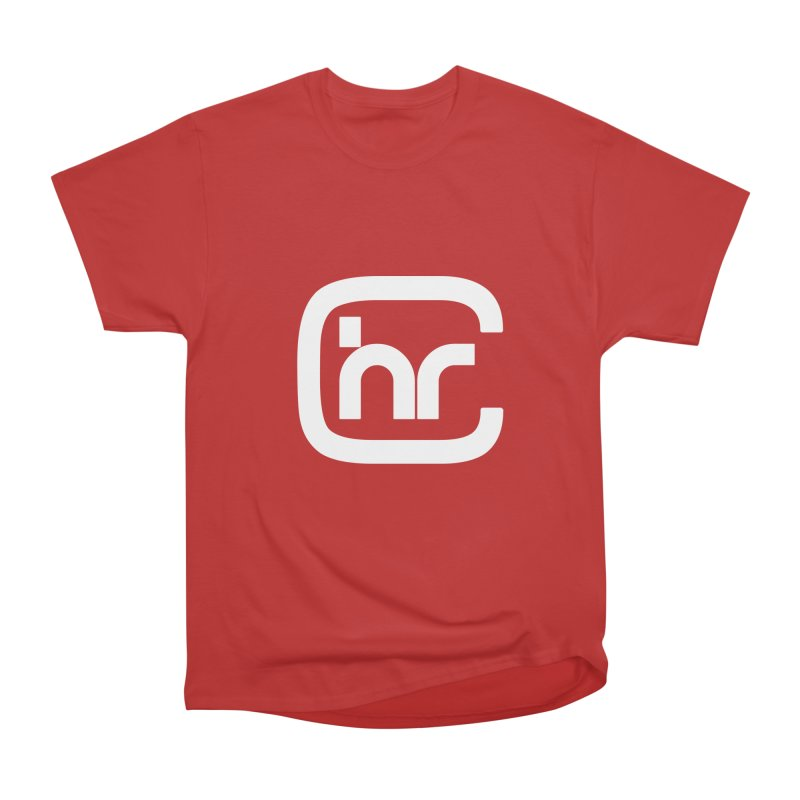CHR WHITE LOGO Men's Heavyweight T-Shirt by Church at Hampton Roads Apparel