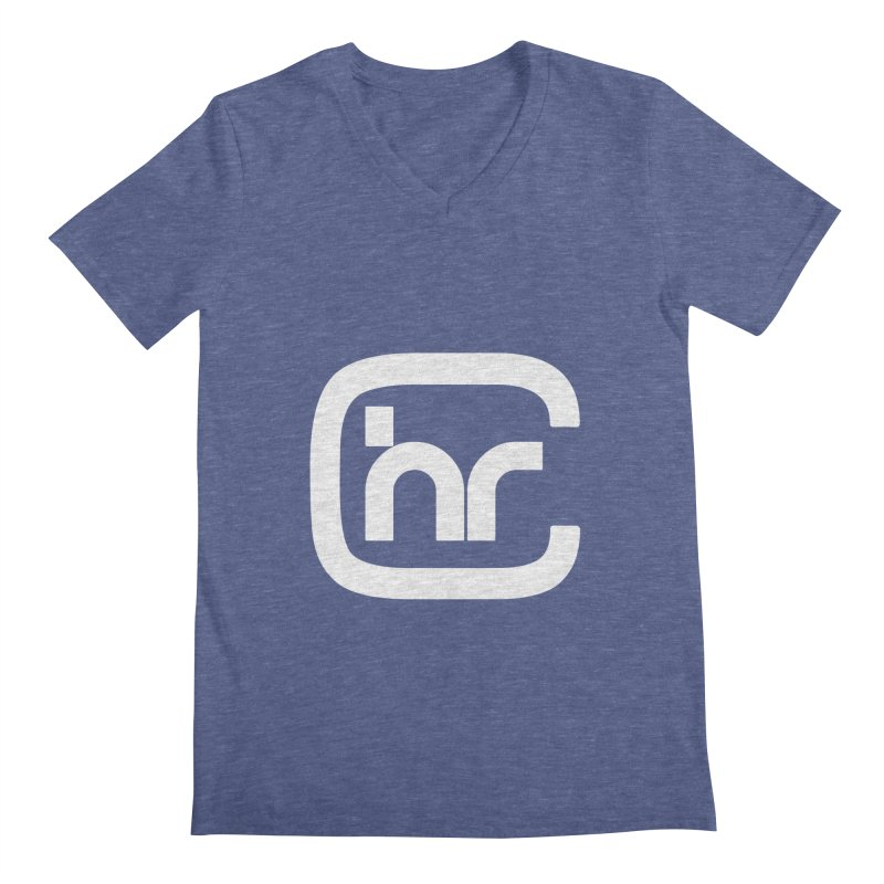 CHR WHITE LOGO Men's Regular V-Neck by Church at Hampton Roads Apparel