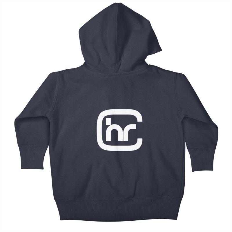 CHR WHITE LOGO Kids Baby Zip-Up Hoody by Church at Hampton Roads Apparel