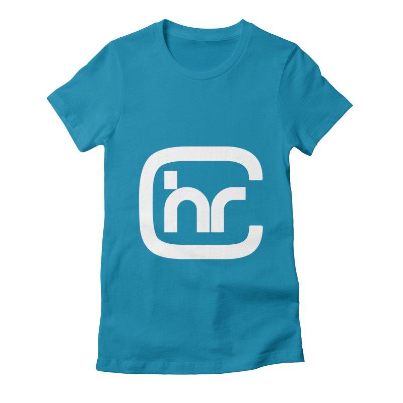 CHR WHITE LOGO Women's Fitted T-Shirt by Church at Hampton Roads Apparel