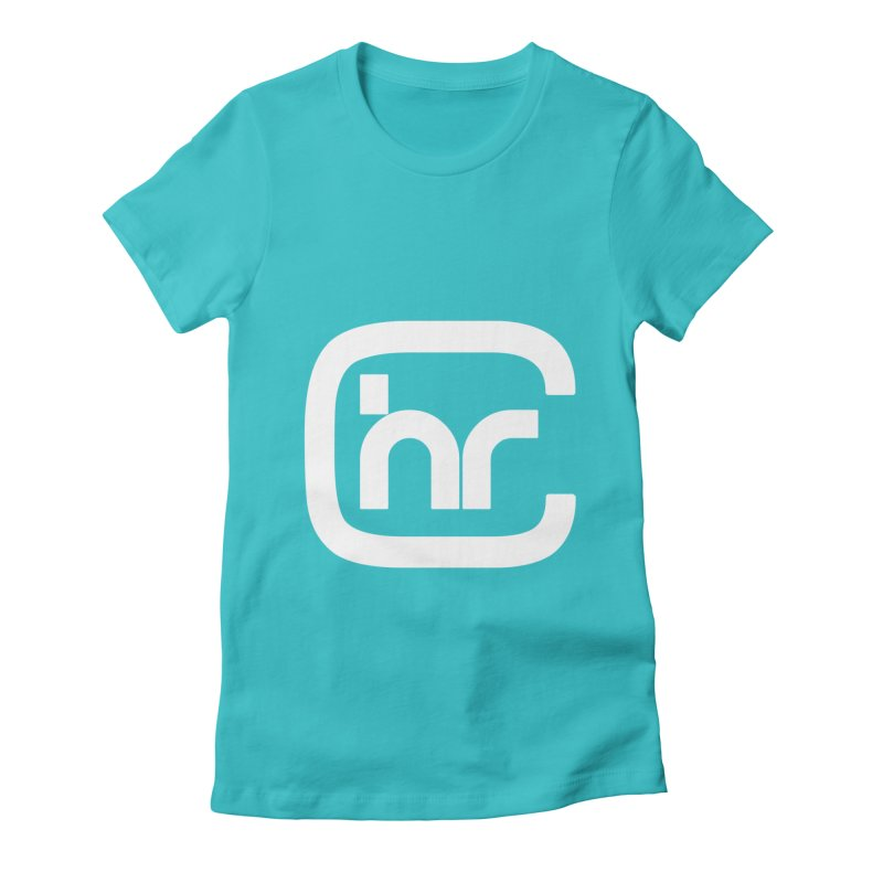 CHR WHITE LOGO Women's Fitted T-Shirt by Church at Hampton Roads Apparel