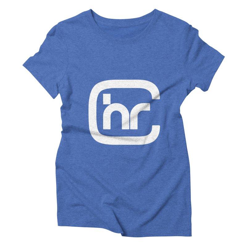 CHR WHITE LOGO Women's Triblend T-Shirt by Church at Hampton Roads Apparel