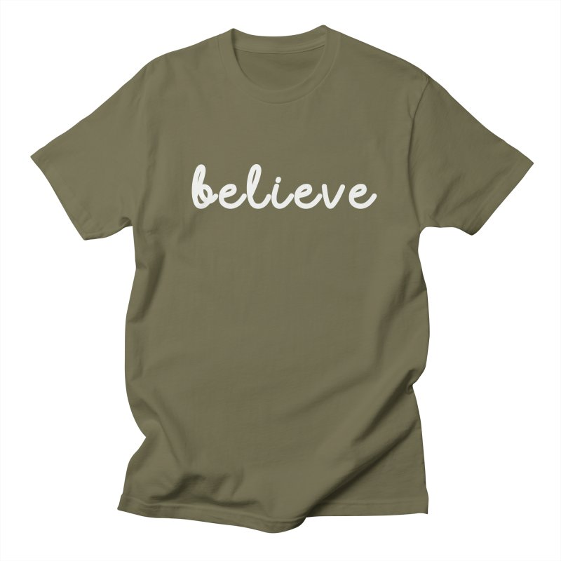 BELIEVE Women's Unisex T-Shirt by Church at Hampton Roads Apparel