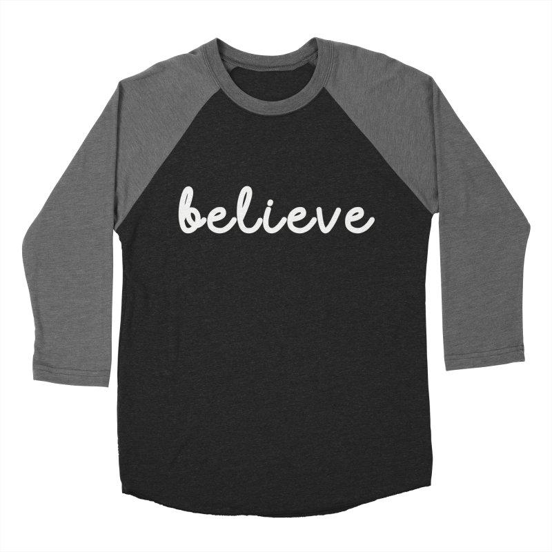 BELIEVE Women's Baseball Triblend Longsleeve T-Shirt by Church at Hampton Roads Apparel