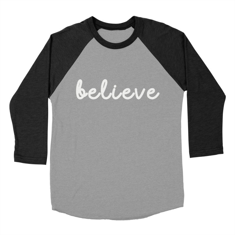 BELIEVE Women's Baseball Triblend Longsleeve T-Shirt by Church at Hampton Roads Apparel