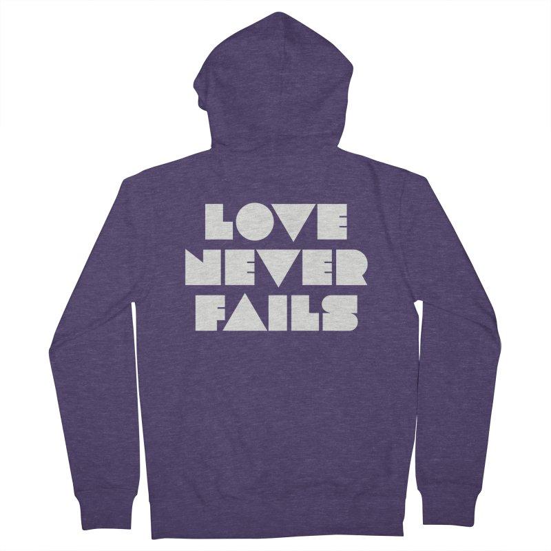 LOVE NEVER FAILS Men's Zip-Up Hoody by Church at Hampton Roads Apparel