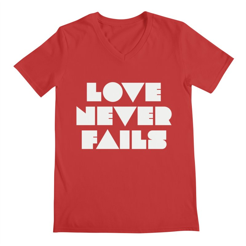 LOVE NEVER FAILS Men's V-Neck by Church at Hampton Roads Apparel