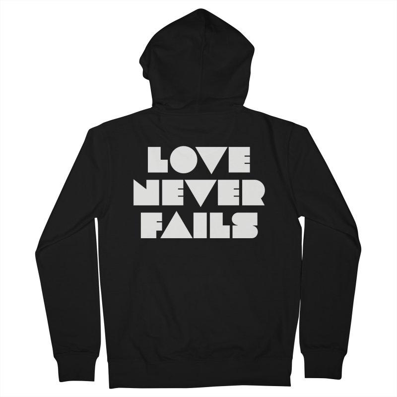 LOVE NEVER FAILS Women's Zip-Up Hoody by Church at Hampton Roads Apparel