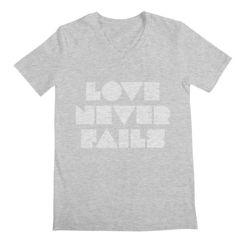 LOVE NEVER FAILS Men's V-Neck by Church at Hampton Roads Apparel
