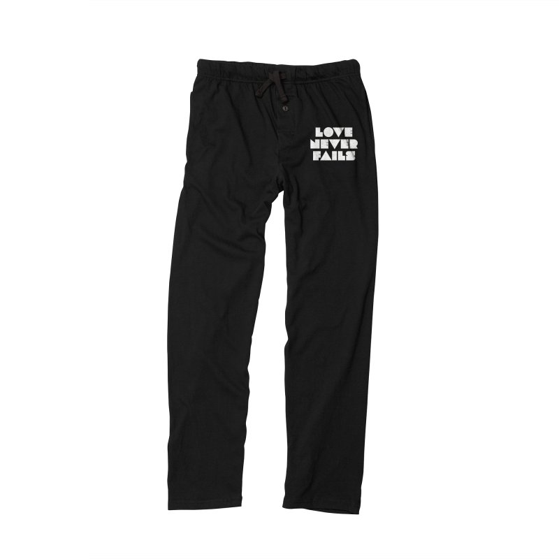 LOVE NEVER FAILS Men's Lounge Pants by Church at Hampton Roads Apparel
