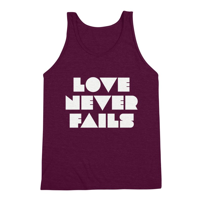 LOVE NEVER FAILS Men's Tank by Church at Hampton Roads Apparel