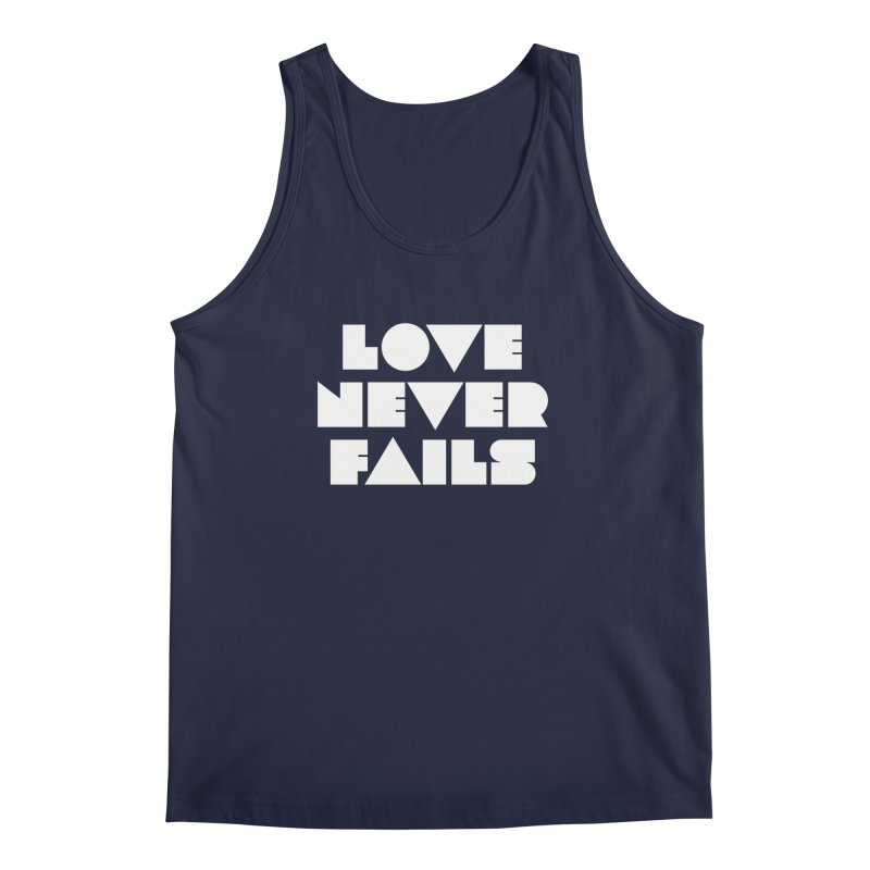 LOVE NEVER FAILS Men's Regular Tank by Church at Hampton Roads Apparel