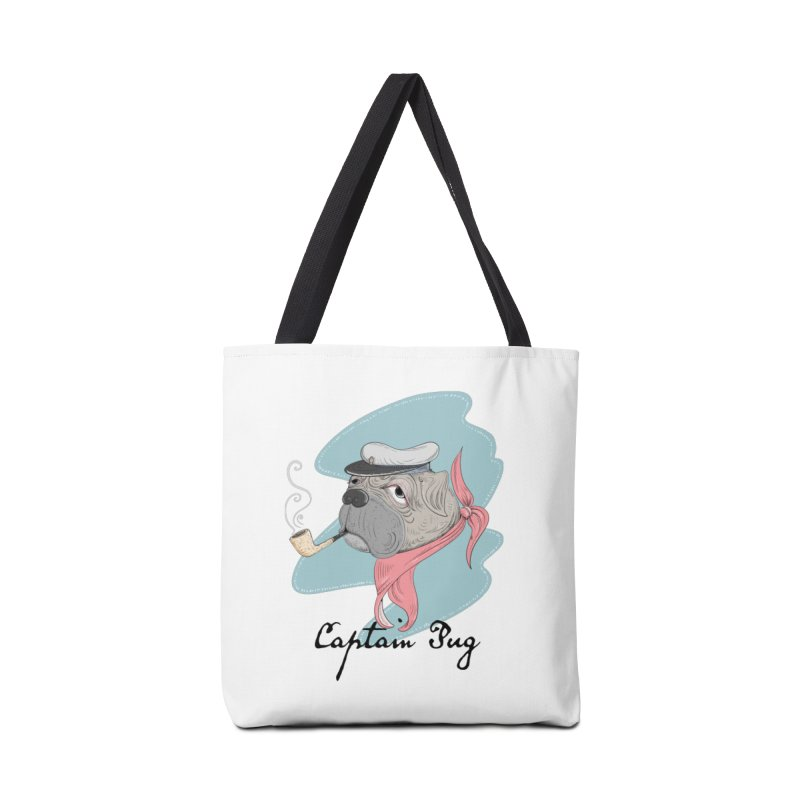 Captain Pug Accessories Tote Bag Bag by Illustrated Madness