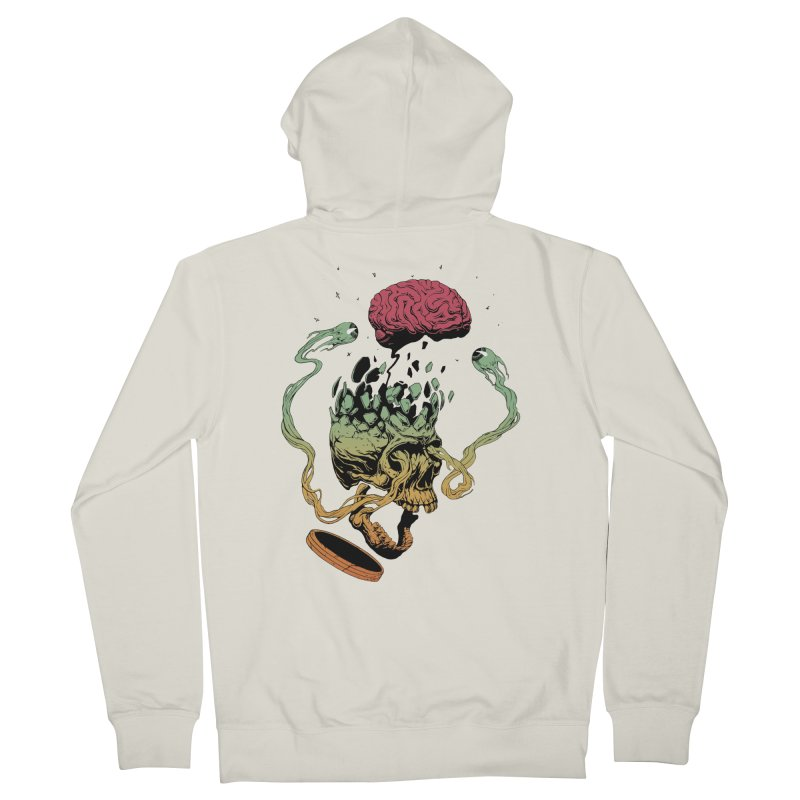Headplosion II in Men's French Terry Zip-Up Hoody Heather Oatmeal by The Blackstock Shop