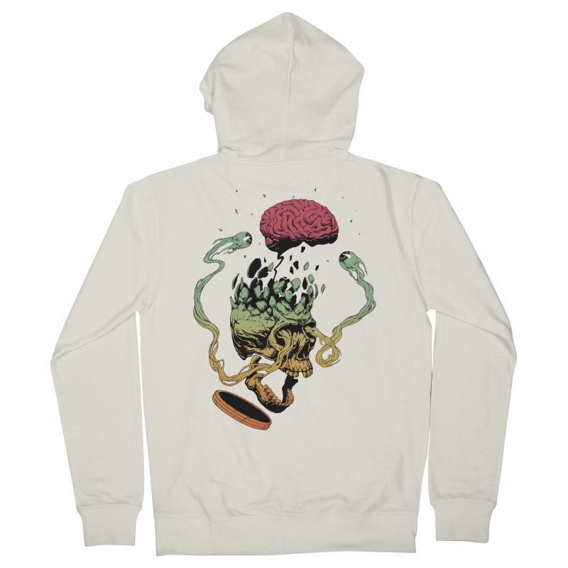 Headplosion II in Men's Zip-Up Hoody Heather Oatmeal by The Blackstock Shop