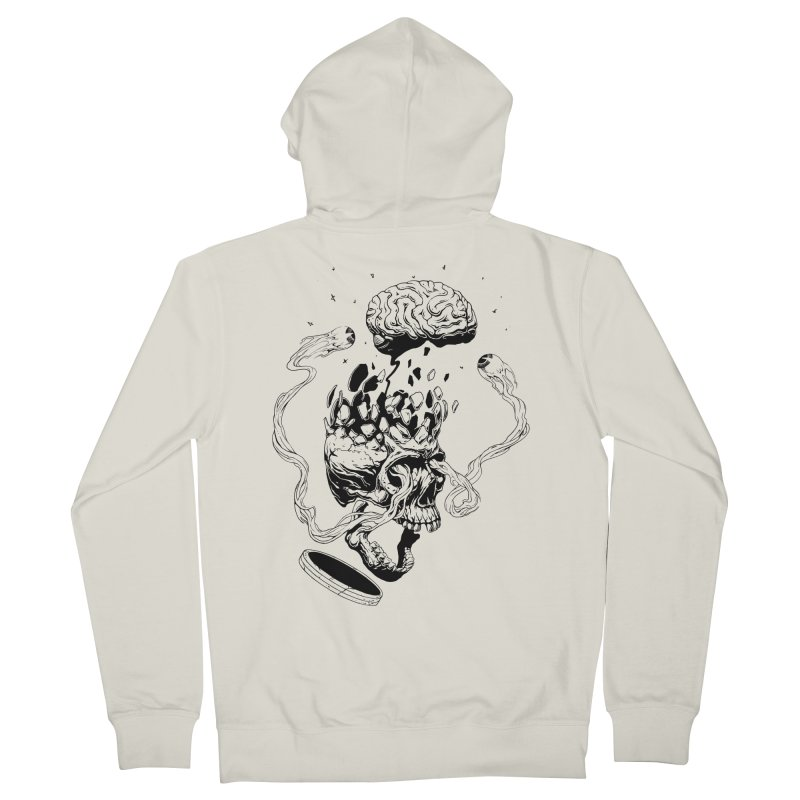 Headplosion (line only) Men's Zip-Up Hoody by The Blackstock Shop