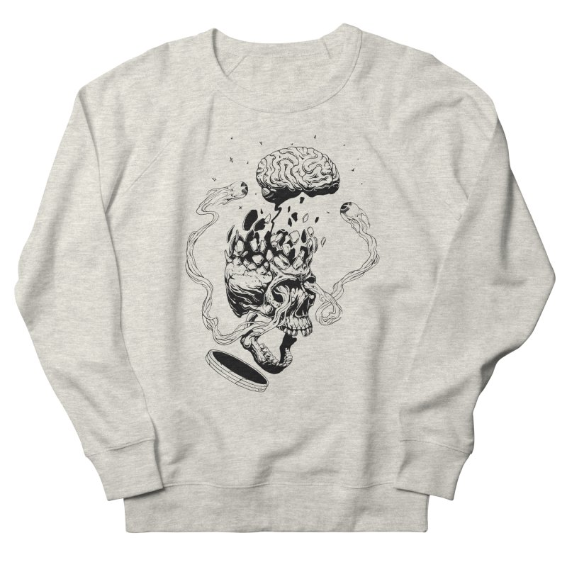 Headplosion (line only) Men's French Terry Sweatshirt by The Blackstock Shop