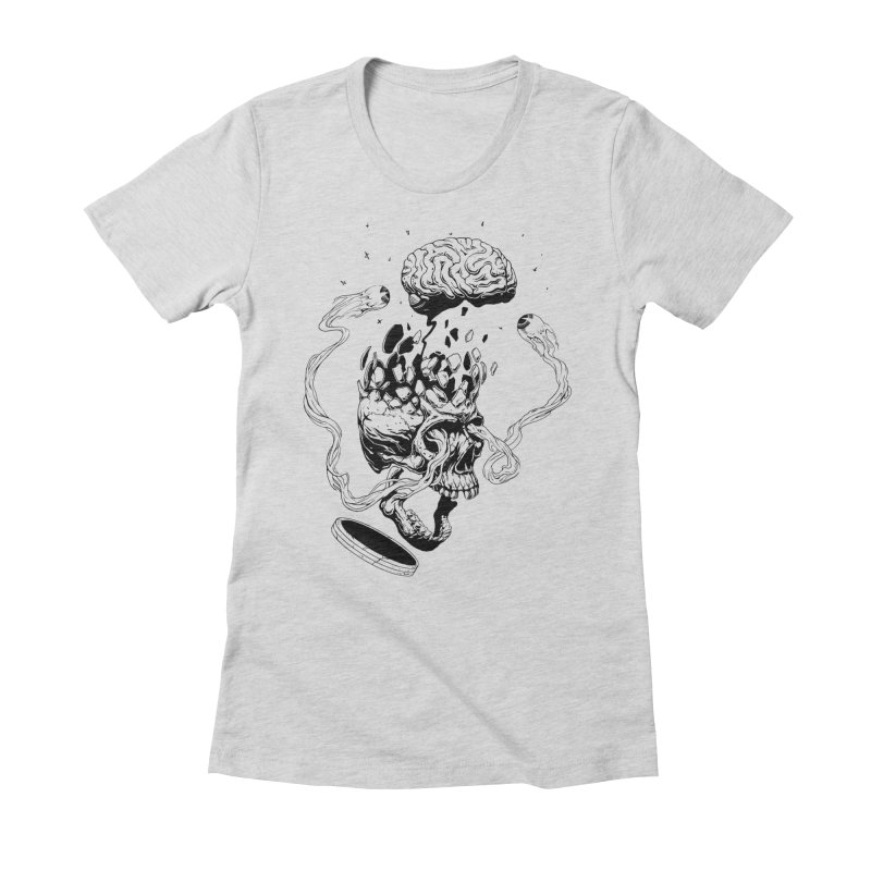 Headplosion (line only) Women's Fitted T-Shirt by The Blackstock Shop
