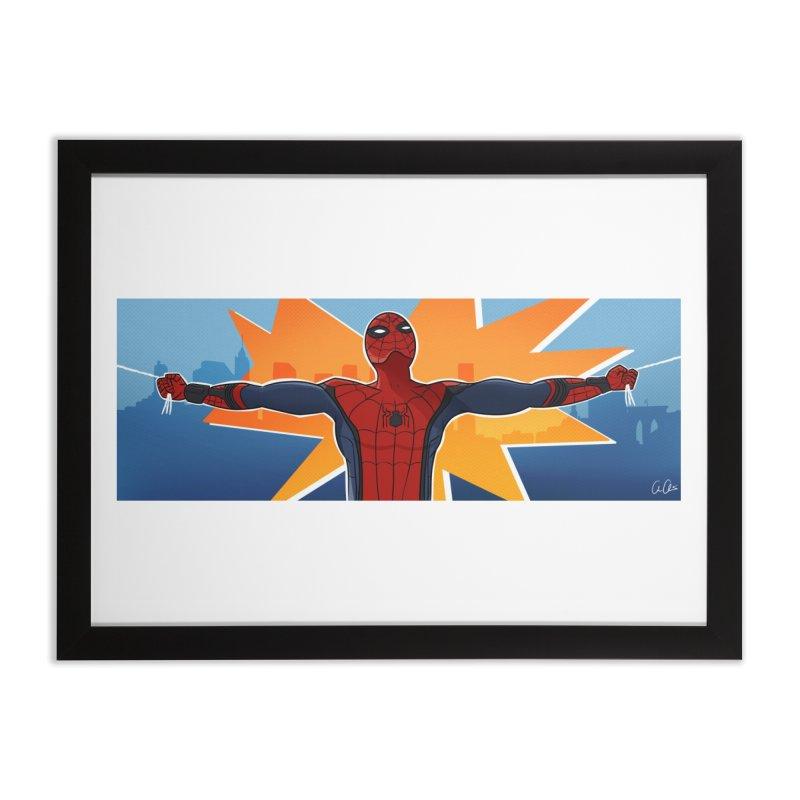 Spider-Man Brooklyn Home Framed Fine Art Print by ChrisBrands
