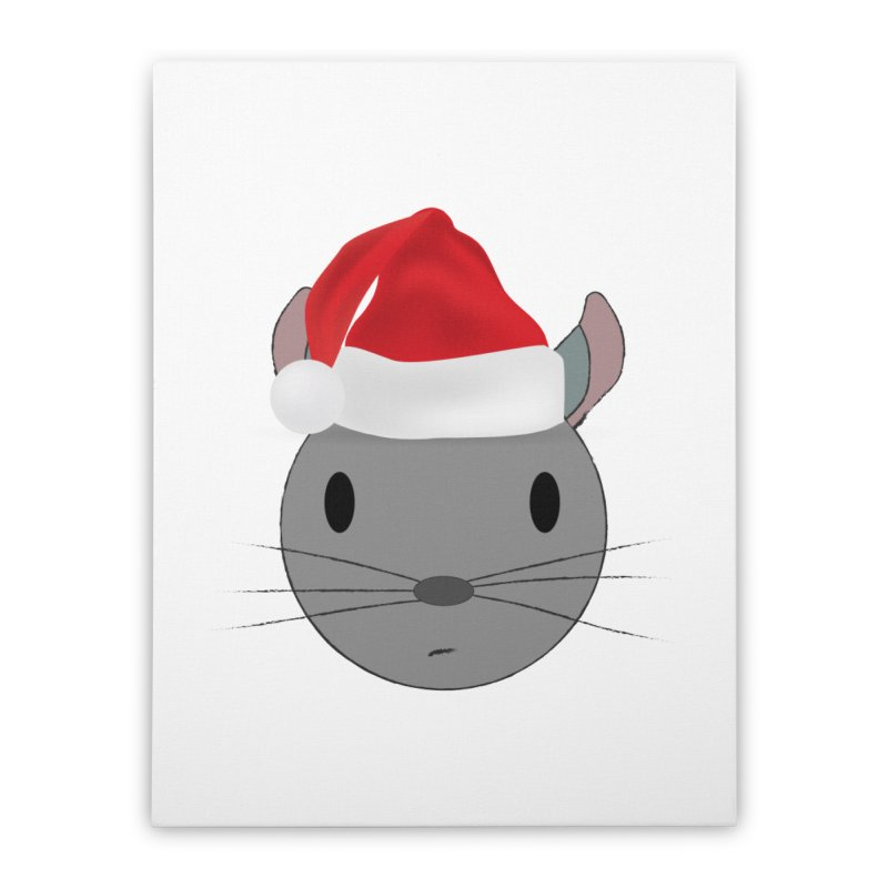 Christmas Chinchilla Home Stretched Canvas by chrischinchilla's Artist Shop
