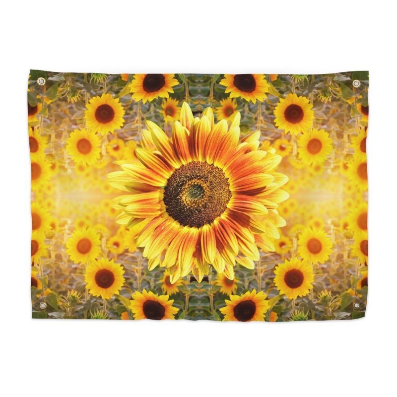 Sunflower Sunshine Home Tapestry by chriscoffincreations