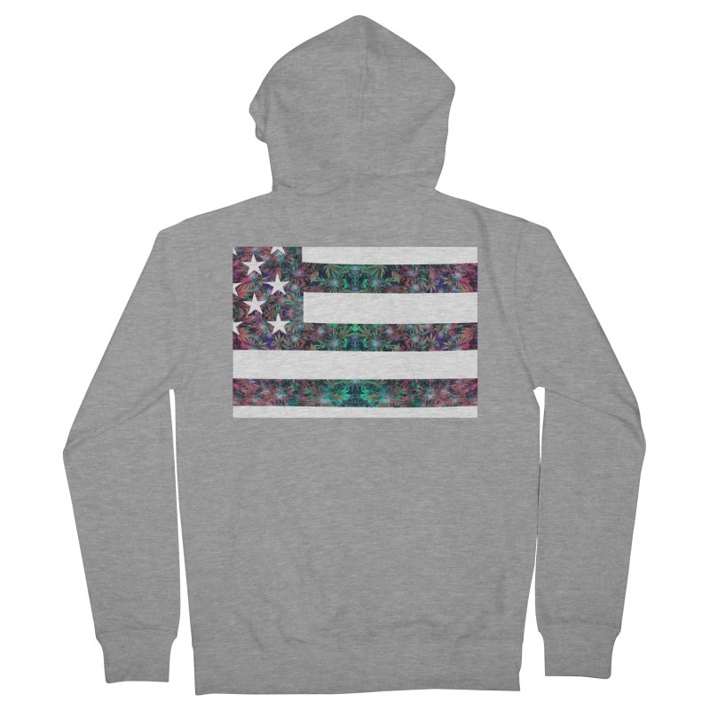 One Nation Under Mary Men's French Terry Zip-Up Hoody by chriscoffincreations