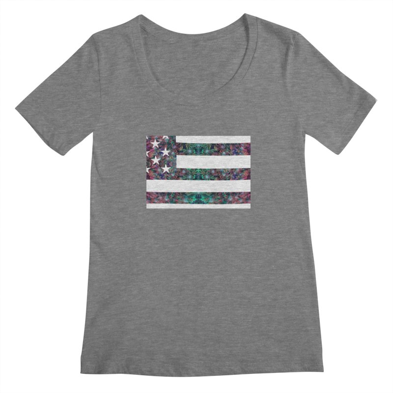 One Nation Under Mary Women's Regular Scoop Neck by chriscoffincreations