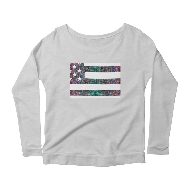 One Nation Under Mary Women's Scoop Neck Longsleeve T-Shirt by chriscoffincreations