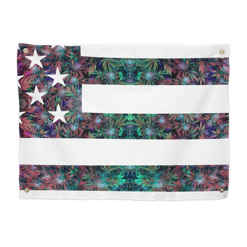 One Nation Under Mary Home Tapestry by chriscoffincreations