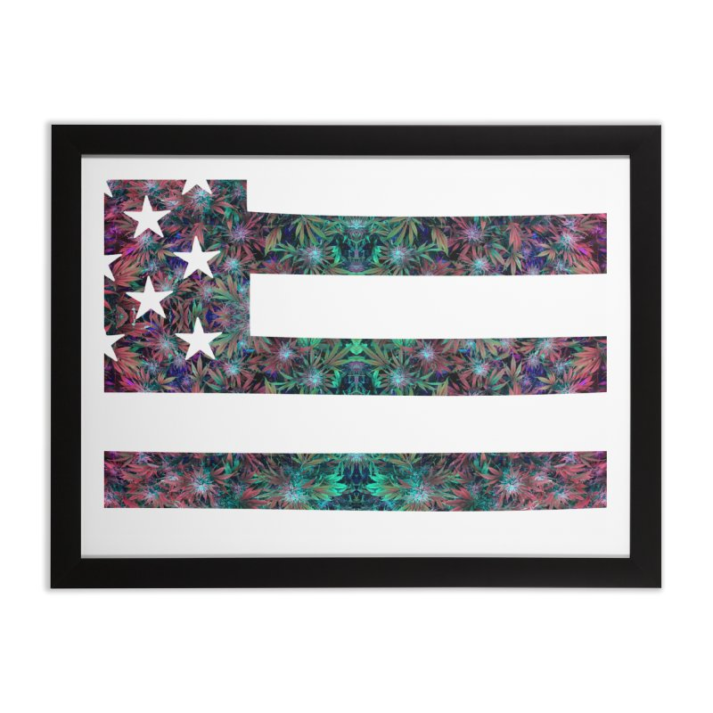One Nation Under Mary Home Framed Fine Art Print by chriscoffincreations