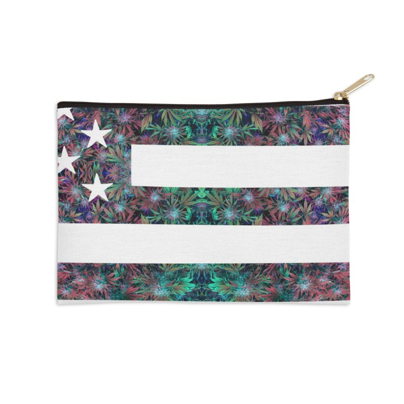 One Nation Under Mary Accessories Zip Pouch by chriscoffincreations