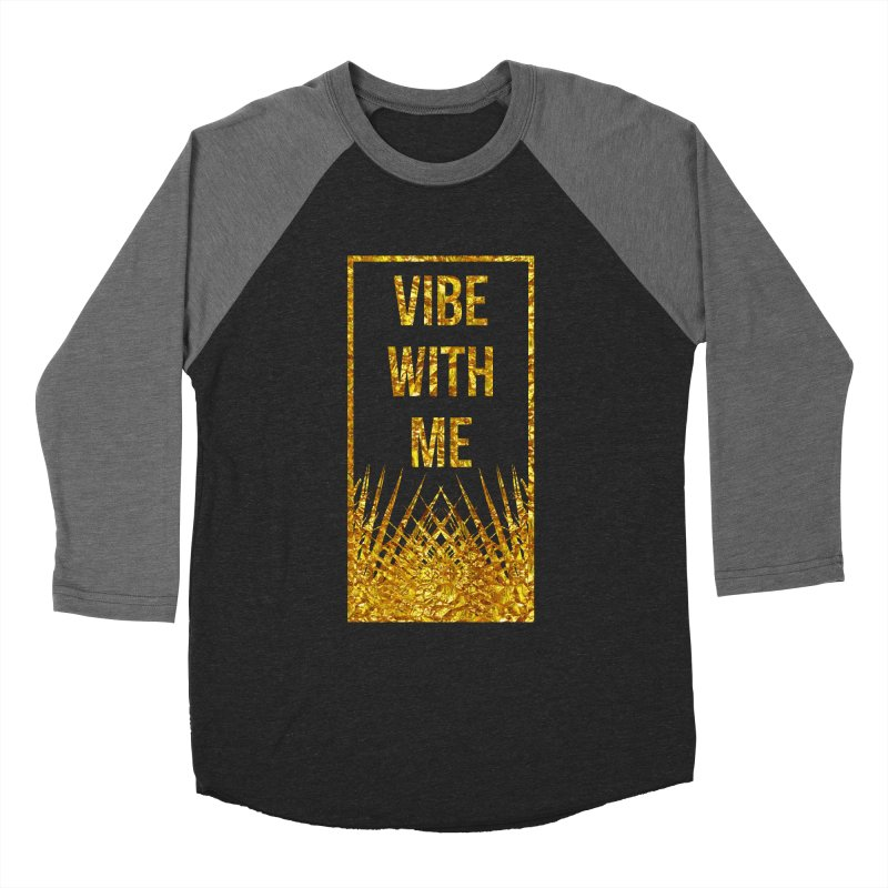 Vibe With Me Men's Baseball Triblend Longsleeve T-Shirt by chriscoffincreations