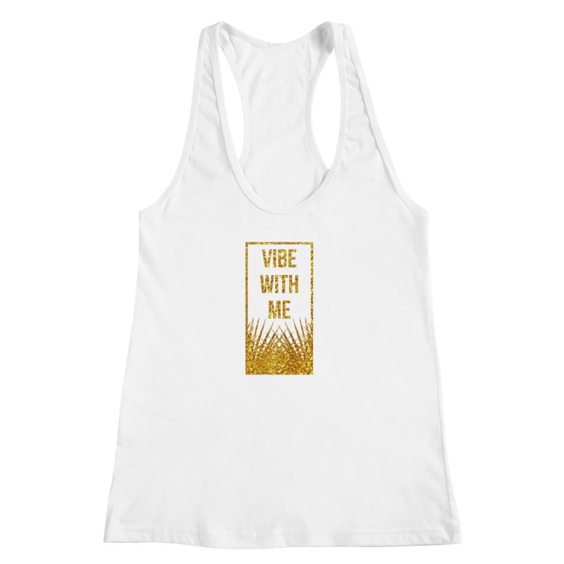 Vibe With Me Women's Racerback Tank by chriscoffincreations