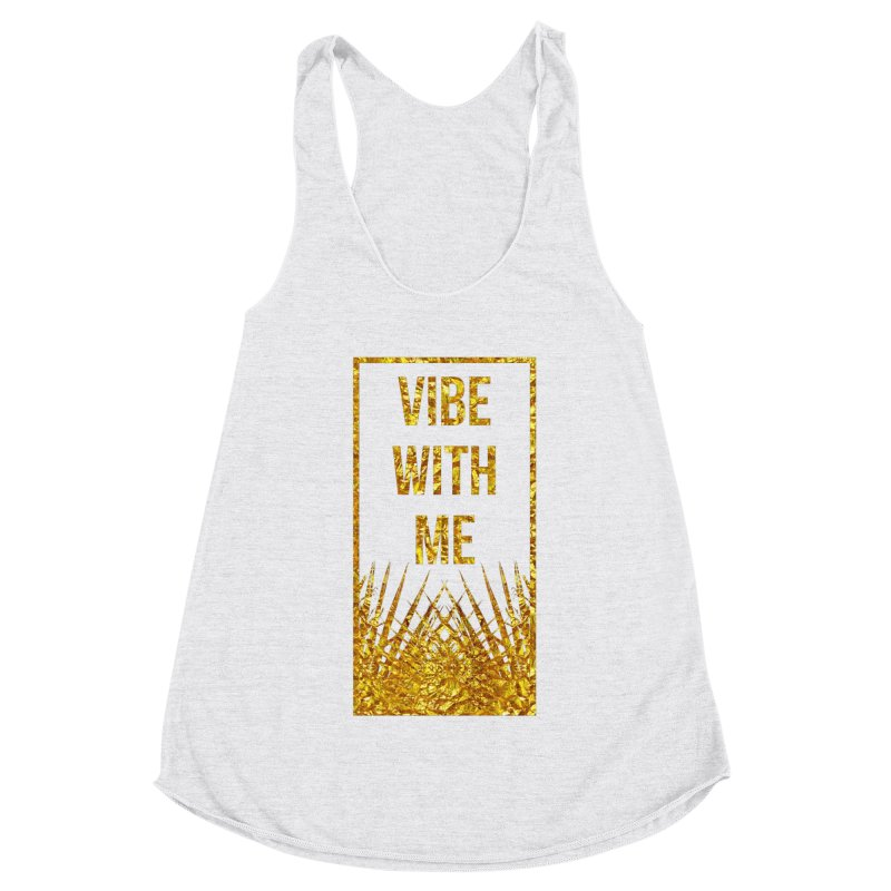 Vibe With Me Women's Racerback Triblend Tank by chriscoffincreations