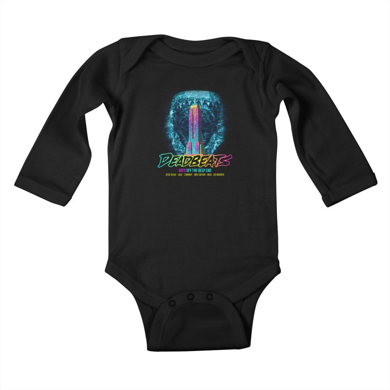 Deadbeats Goes Off The Deep End NYC Kids Baby Longsleeve Bodysuit by chriscoffincreations